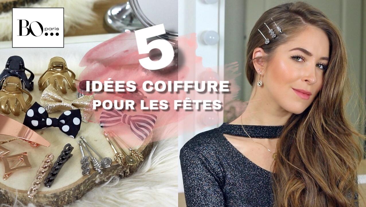 5 idées coiffure pour les fêtes de fin d'année